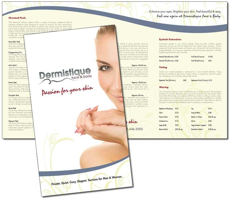 Dermistique Brochure Beth Ott Design