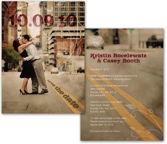 Save the Date Cards – Kansas City – Beth Ott Design |