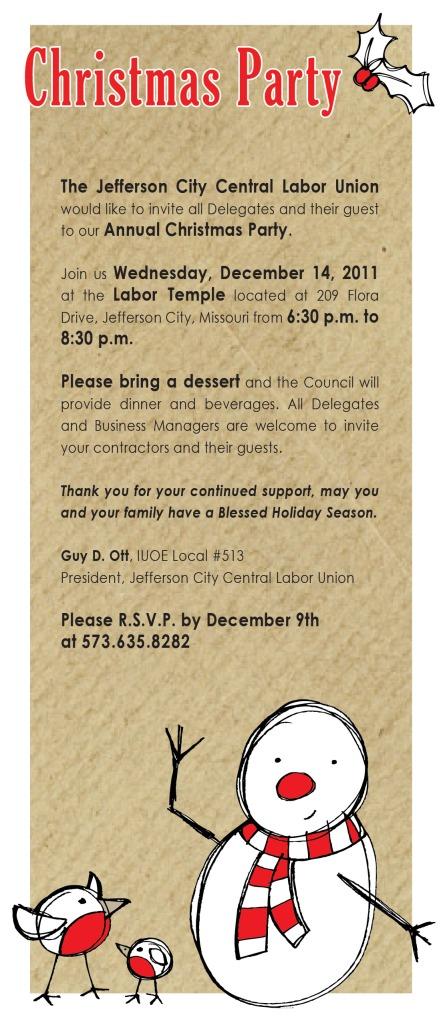 christmas drinks invitation wording